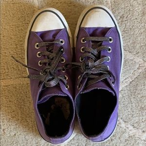 Converse All Star Purple Double Tongue Shoes